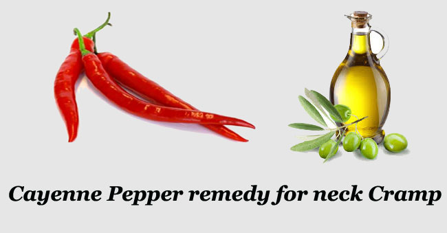Cayenne Pepper for neck cramP