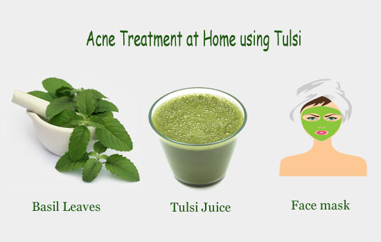 Acne Treatment at Home using Tulsi
