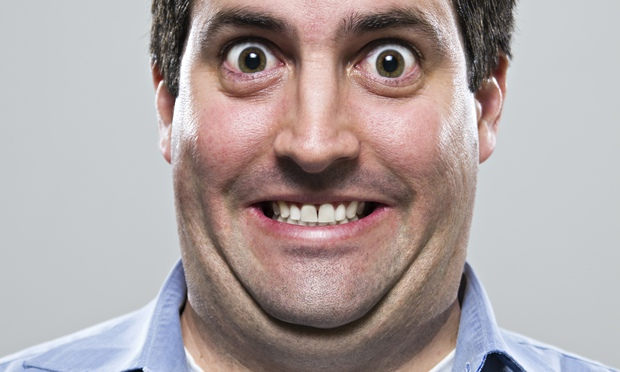 Man with double chins image