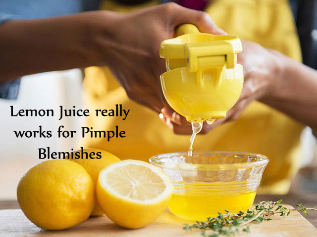 Lemon Juice for Pimple Marks