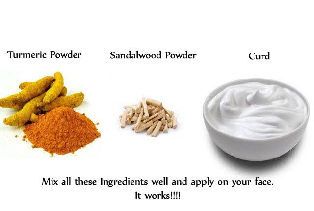 Turmeric Curd Sandalwood for Acne Scars