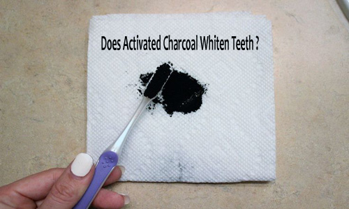 Activated Charcoal on Teeth