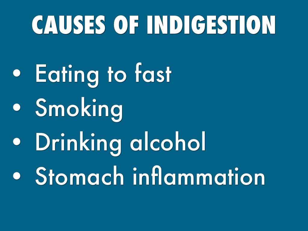 causes of indigestion image