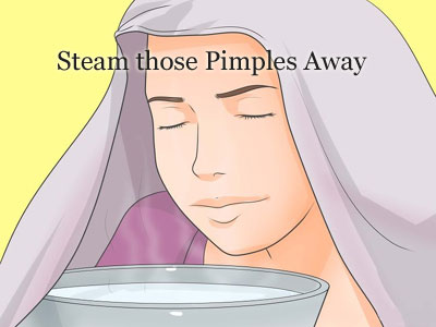 Steam those Pimples away