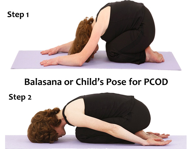 Balasana to cure PCOS