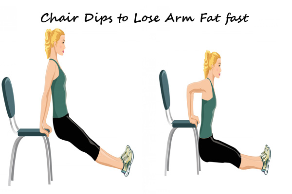 Chair Dips to lose arm fat