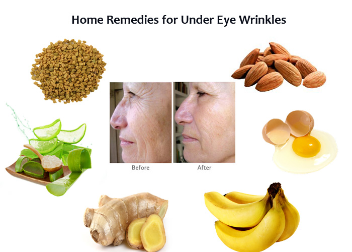 Home Remedies for wrinkles under eye