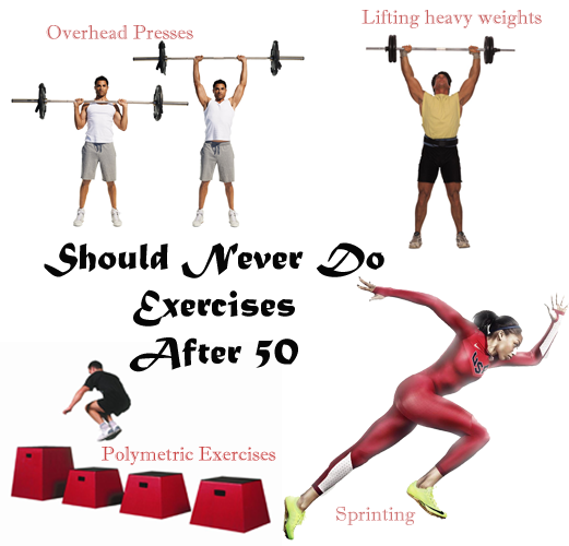 Should not do Exercises after 50