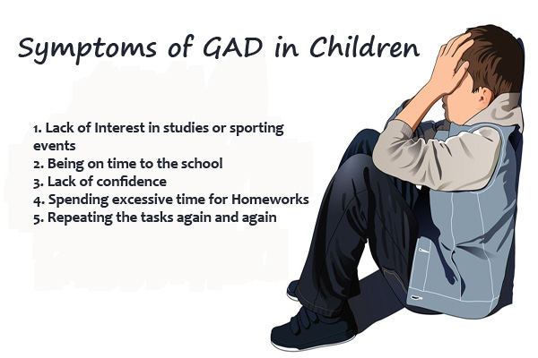 Symptoms of GAD in Children