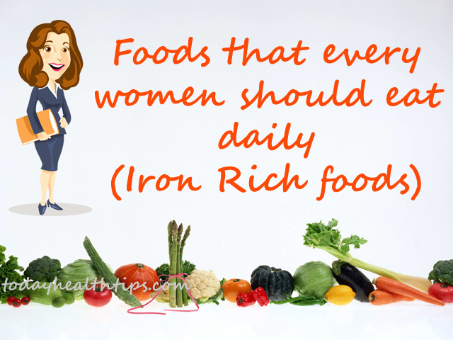 Iron rich foods list that every women should not miss