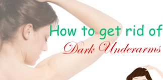 get rid of dark underarms