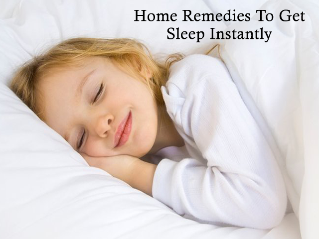 Proven Home remedies for sleep